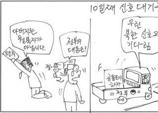 """[D-시사만평] """"나라가 뭘했나""""…""""북한·해경 응답 기다리고 있지"""""""