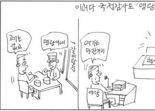 [D-시사만평] 국회 국감장, 차벽했나?…핵심 증인 없는 '맹탕'
