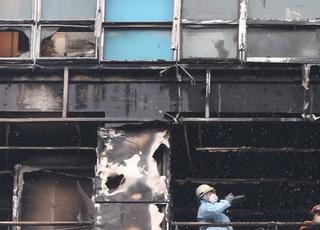 3층 테라스냐 12층 발코니냐…울산 주상복합 화재 현장, 오늘 2차 합동감식