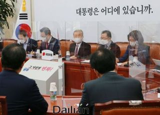 '심기일전'…국민의힘 지도부, 갈등설 선 긋고 보궐선거 준비 집중