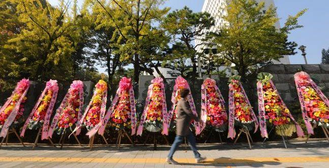 """대검 앞에 '윤석열 꽃길' 생겼다…與 """"현실에 분노 않는 사람들"""""""