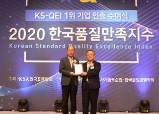 한전KPS, 한국품질만족지수 9년 연속 1위 기업 선정