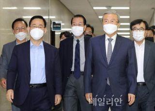 중진들, '김종인 비대위로 보선' 공감…지도체제 위기 수습?