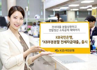 KB국민은행, 'KB 부분분할 전세자금대출' 출시